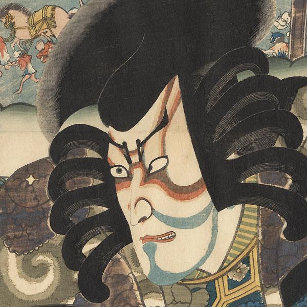 Miya: Ichikawa Danjuro VIII as Kagekiyo by Toyokuni III/Kunisada (1786 - 1864)