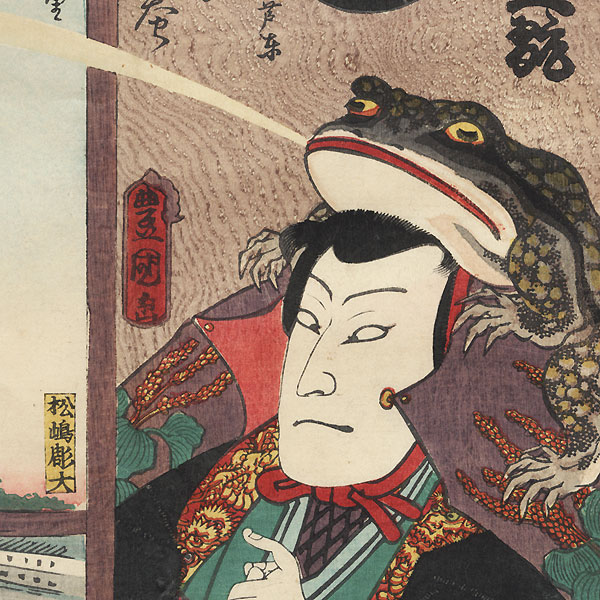 Yo Brigade, First Group, Uchi Kanda: Nakamura Shikan IV as Soma no Yoshikado, 1863 by Toyokuni III/Kunisada (1786 - 1864)