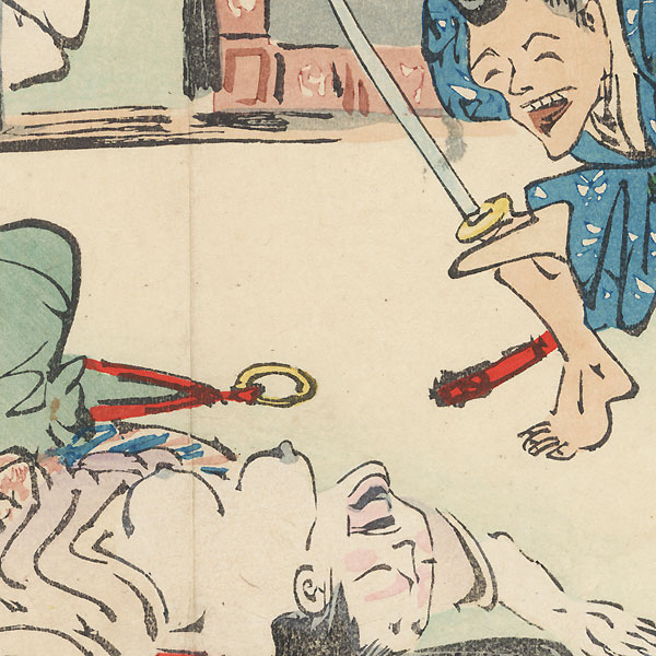 The Night Attack of the Soga Brothers by Kiyochika (1847 - 1915)