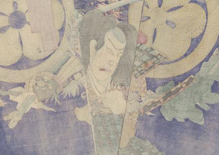 Ichikawa Sadanji I as Atsumi Goro, 1879 by Kunichika (1835 - 1900)
