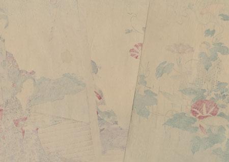 Beauties and Morning Glories by Kunichika (1835 - 1900)