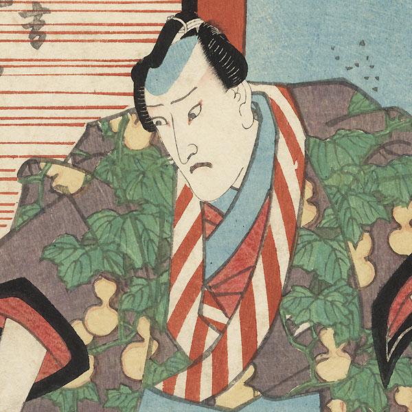 Onoe Kikugoro III as Dairyo Hisayoshi, 1838 by Toyokuni III/Kunisada (1786 - 1864)