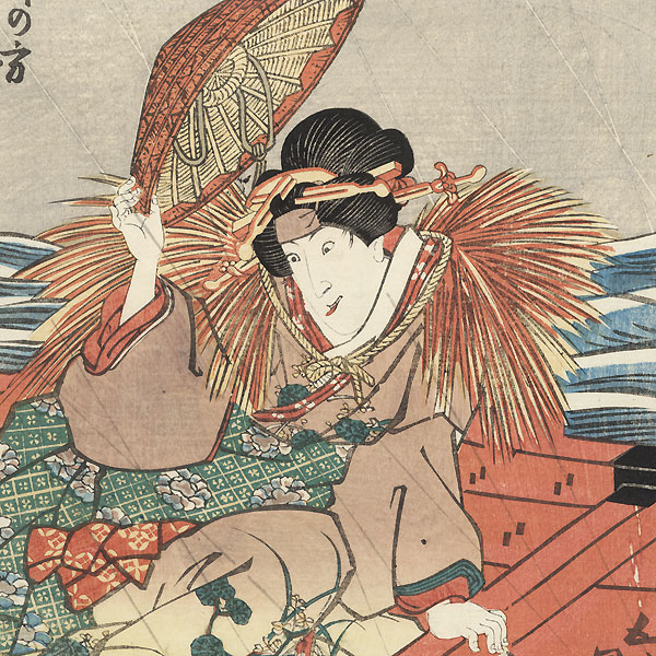 Crazed Beauty in a Boat, 1838 by Toyokuni III/Kunisada (1786 - 1864)
