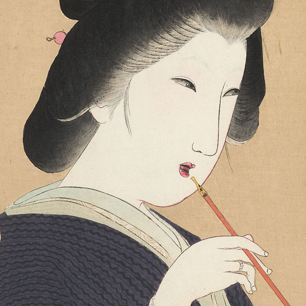 Beauty Smoking a Pipe, 1906 by Yamamoto Shoun (1870 - 1965)