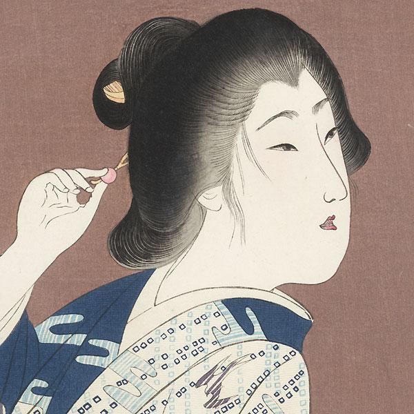 Returning from a Bath by Yamamoto Shoun (1870 - 1965)