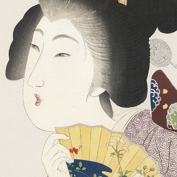 Beauty with a Fan, 1906 by Yamamoto Shoun (1870 - 1965)