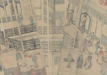 Upstairs at a Teahouse by Yoshikazu (active circa 1850 - 1870)