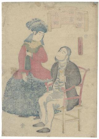 French, 1860 by Yoshitora