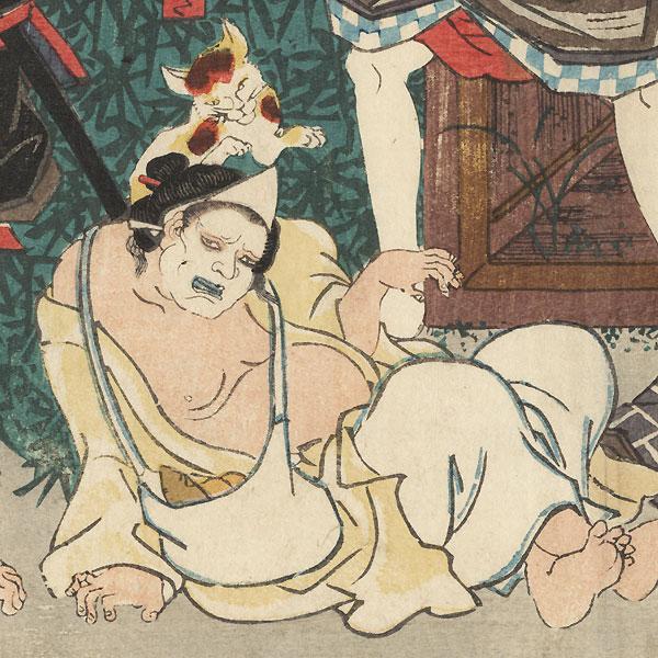 Commotion at Night, 1847 - 1852 by Toyokuni III/Kunisada (1786 - 1864)