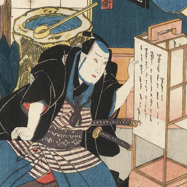 Scene from Tsuma Mukae Iro no Fumizuki, 1848 by Toyokuni III/Kunisada (1786 - 1864)