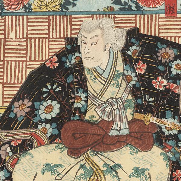 Scene from Kiichi Hogen sanryaku no maki, 1849 by Toyokuni III/Kunisada (1786 - 1864)