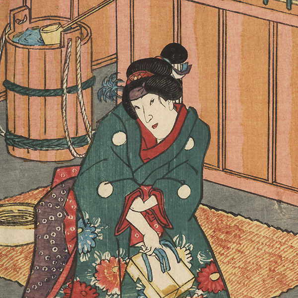 Samurai Oguri Hangan, 1847 - 1852 by Toyokuni III/Kunisada (1786 - 1864)