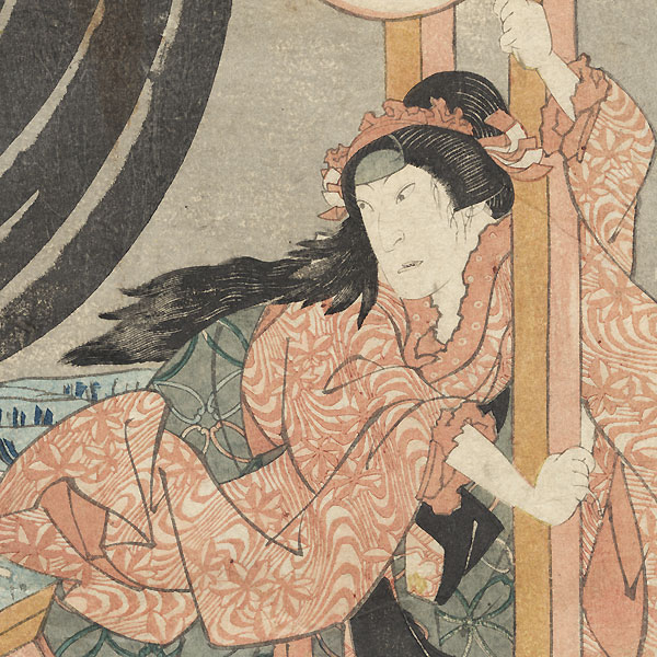 Nakamura Shikan as the Daugher Ofune, 1835 by Hokuei (active circa 1827 - 1836)Hokuei (active circa 1827 - 1836)