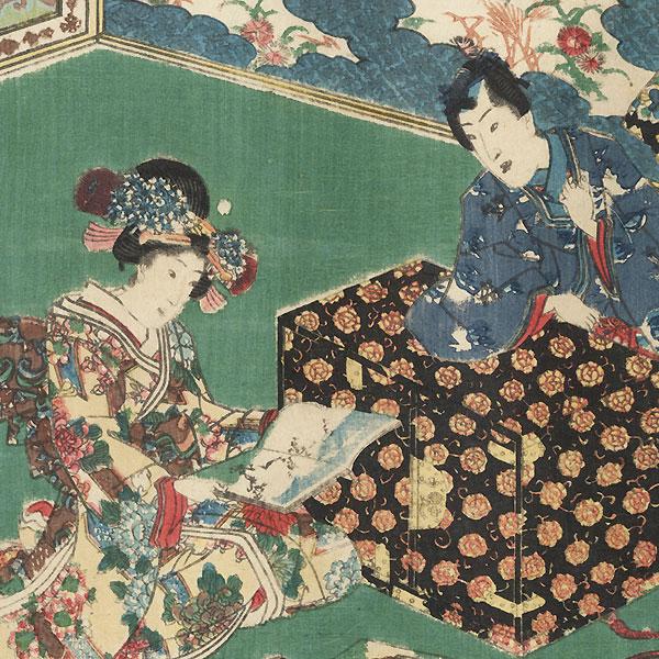 E-awase, Chapter 17 by Toyokuni III/Kunisada (1786 - 1864)