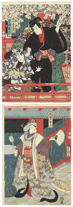 Nakamura Fukusuke I as Ishikawa Goemon Kakemono, 1855 by Toyokuni III/Kunisada (1786 - 1864)