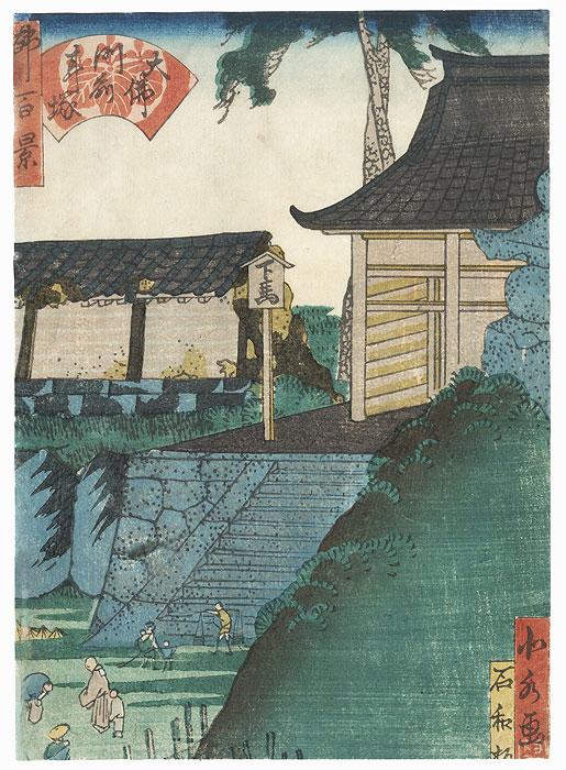 The Great Buddha, Mimizuka by Yoshitoyo (1830 - 1866)