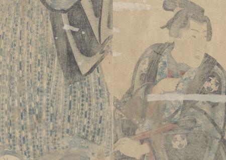 Young Samurai Kakemono by Toyokuni III/Kunisada (1786 - 1864)