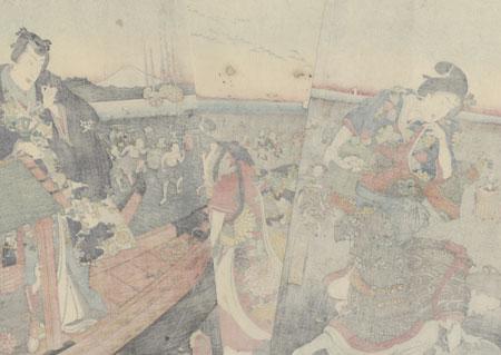 The Third Month (Yayoi), 1858 by Toyokuni III/Kunisada (1786 - 1864)