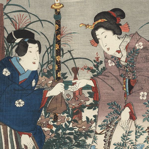 Eastern Genji in the Seventh Month, 1847 by Toyokuni/Kunisada (1786 - 1864)