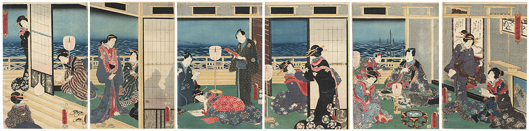 Made by Genji in Sagami Style, 1855 by Toyokuni III/Kunisada (1786 - 1864)