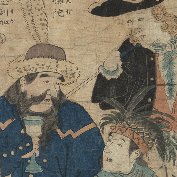 Dutch, English, and American, 1860 by Hiroshige II (1826 - 1869)