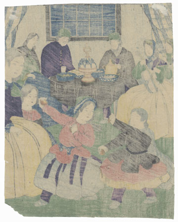 Party at a Foreign Merchant's House by Edo era artist (unsigned)