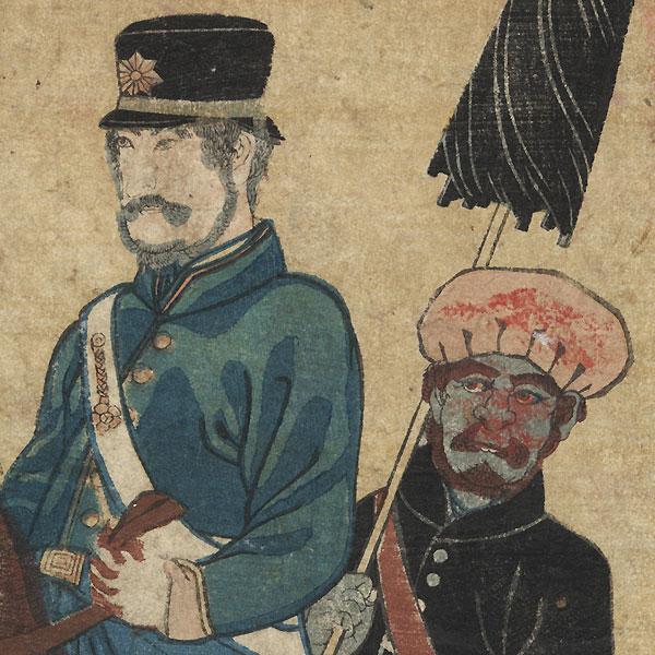 Dutch Man by Yoshifuji (1828 - 1889)