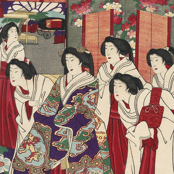 Flowers of the East, 1878 by Chikanobu (1838 - 1912)