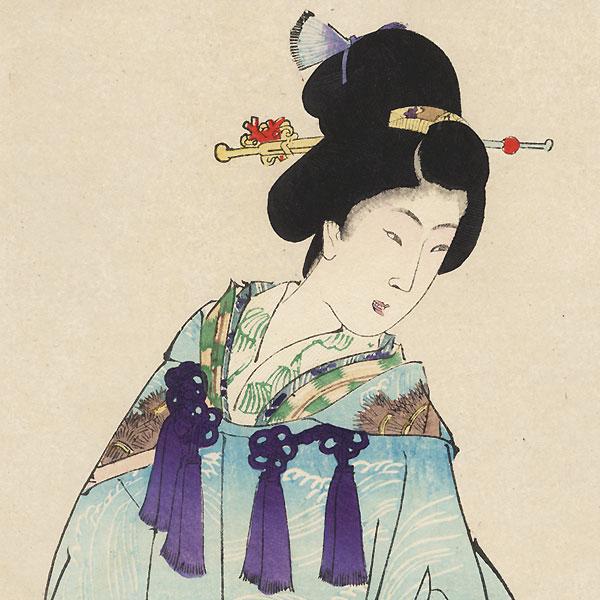 Bonsai by Chikanobu (1838 - 1912)
