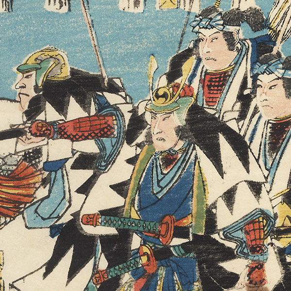 Vengeance of the Loyal Retainers by Hiroshige (1797 - 1858)