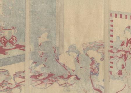 Enjoying a Meal, 1892 by Chikanobu (1838 - 1912)