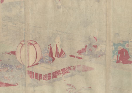 Autumn Moon at Ishiyama by Toshikata (1866 - 1908)