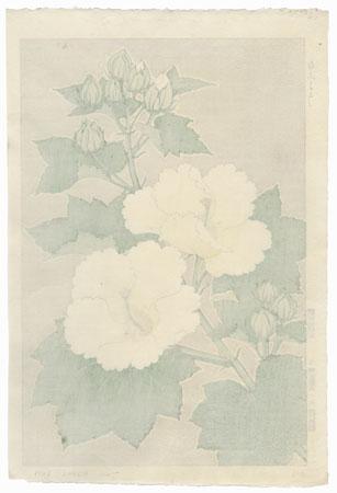 White Cotton Rose by Kawarazaki Shodo (1889 - 1973)