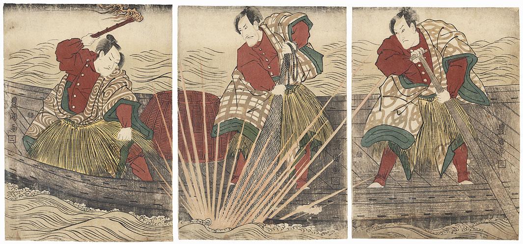 Scene from Kinryuzan Makura no Ishizue, 1807 by Toyokuni I (1769 - 1825)