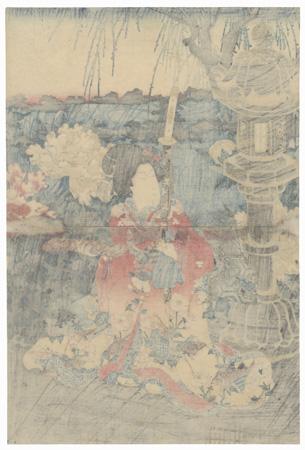 Visiting a Peony Garden, 1847 - 1852 by Toyokuni III/Kunisada (1786 - 1864)