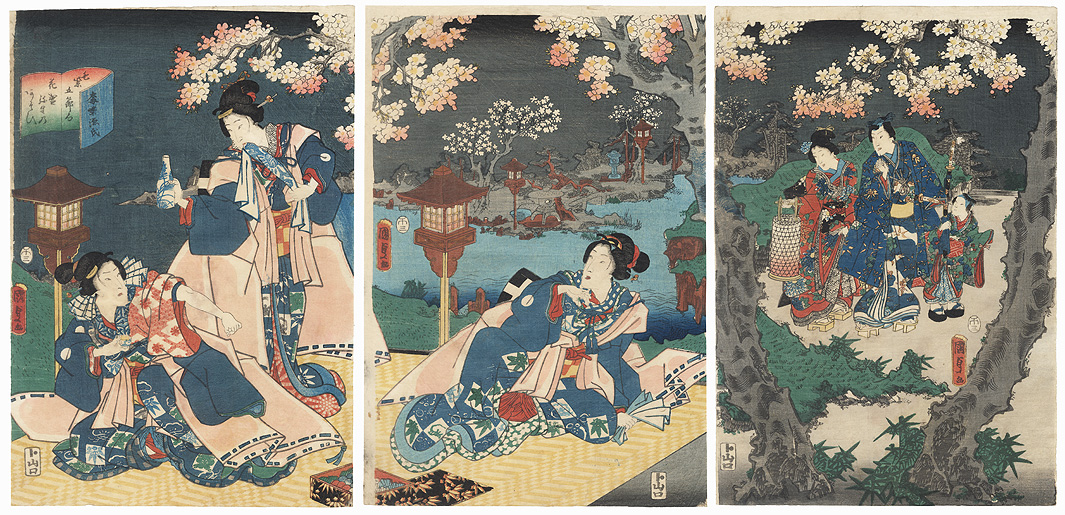 Evening Picnic, 1858 by Kunisada II (1823 - 1880)