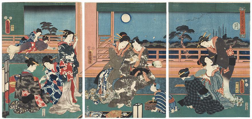 Moon, 1855 by Toyokuni III/Kunisada (1786 - 1864)