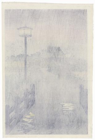 Evening Rain, Shinobazu Pond, 1938 by Shiro Kasamatsu (1898 - 1991)
