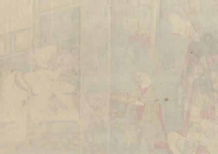 A Beauty's Morning Toilette by Kunisada II (1823 - 1880)