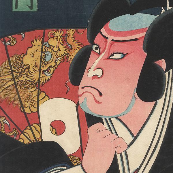 Kataoka Nizaemon VIII as Hida no kami Masakiyo, 1861 by Toyokuni III/Kunisada (1786 - 1864)