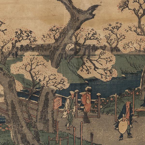 Original Hiroshige I Woodblock Print by Hiroshige (1797 - 1858)