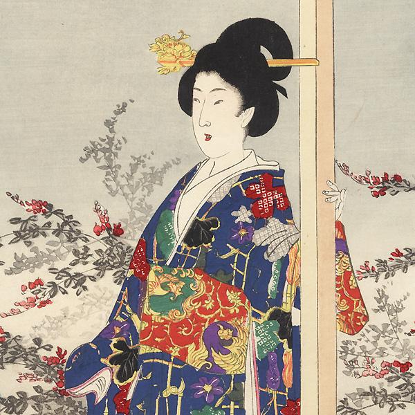 Moon Viewing, 1897 by Chikanobu (1838 - 1912)