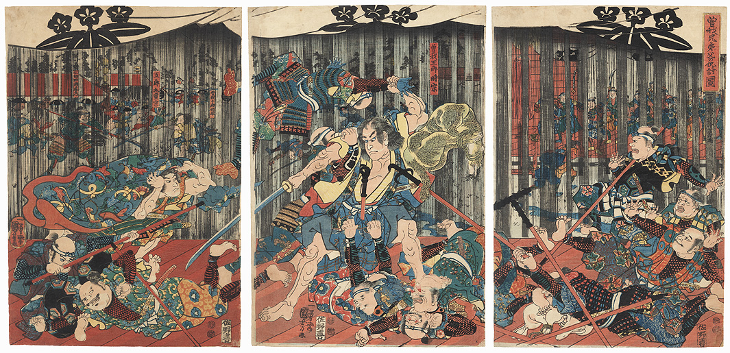 Revenge of the Soga Brothers, 1851 - 1852 by Kuniyoshi (1797 - 1861)