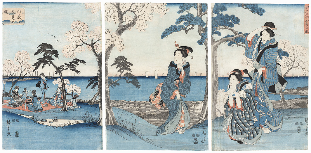 The Four Seasons at Famous Places in Edo, 1847 by Hiroshige (1797 - 1858)