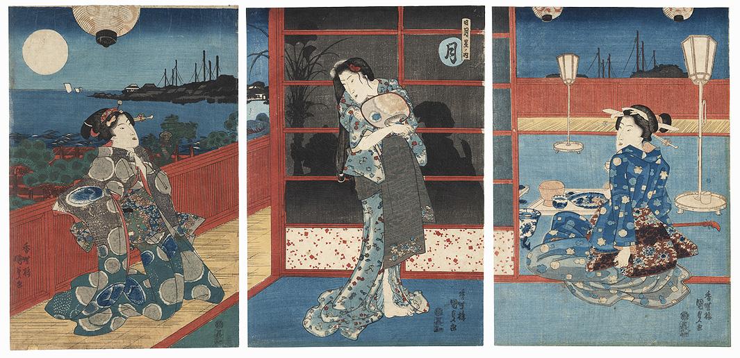 Moon by Toyokuni III/Kunisada (1786 - 1864)
