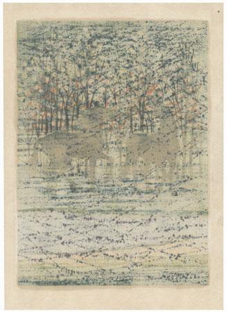 Woods and Horses, 1975 by Fumio Fujita (born 1933)