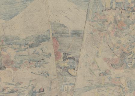 Lord Yoritomo's Hunt at Mount Fuji, circa 1843 - 1847 by Yoshikatsu (active circa 1840s - 1850s)