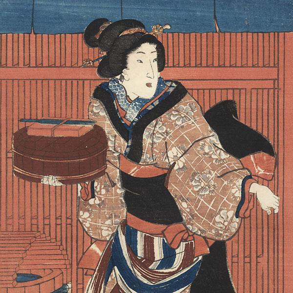 Beauties in the Street, 1852 by Toyokuni III/Kunisada (1786 - 1864)