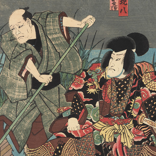 Eight Dog Warriors Kabuki Scene, 1852 by Toyokuni III/Kunisada (1786 - 1864)