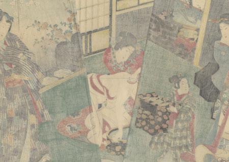Picture Scroll of Genji in Modern Style, 1858 by Kunisada II (1823 - 1880)